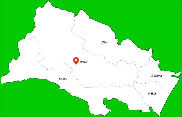 仙台市青葉区 地図